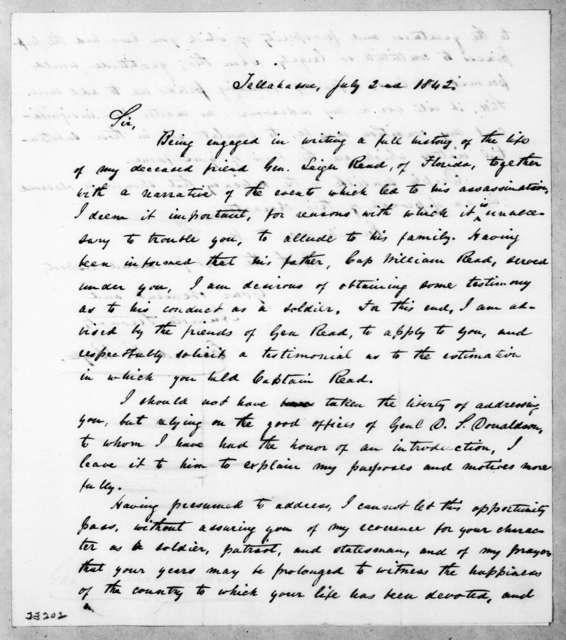 Edward R. Boyle to Andrew Jackson, July 2, 1842