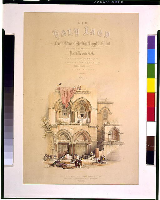 Entrance to the holy sepulchre; title page, vol. 1.