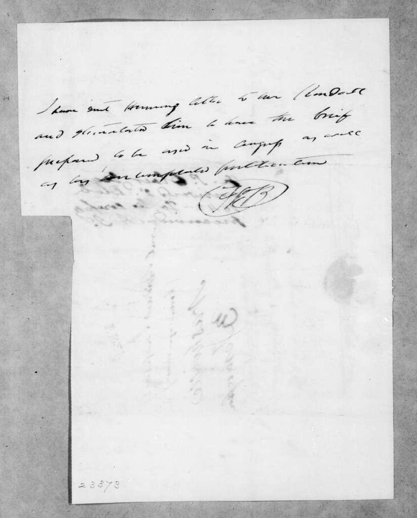 Francis Preston Blair to Andrew Jackson, November 20, 1842