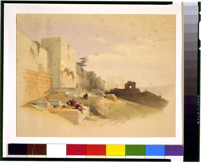 Golden gate of the temple shewing part of the ancient walls / David Roberts, R.A.