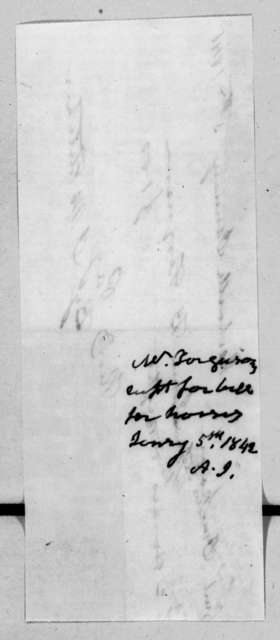 James B. Ferguson to Andrew Jackson, January 5, 1842