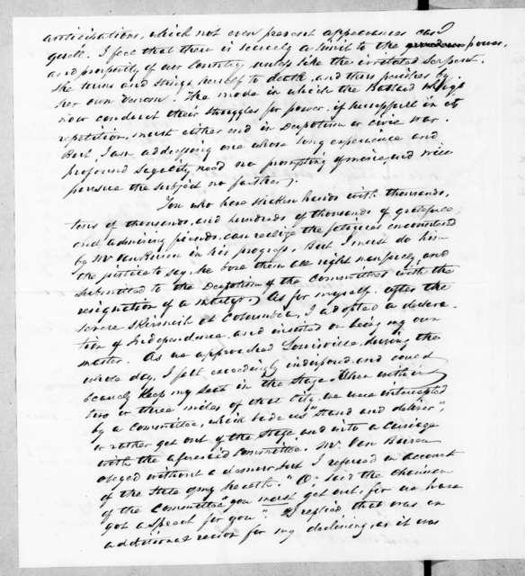 James Kirke Paulding to Andrew Jackson, September 22, 1842