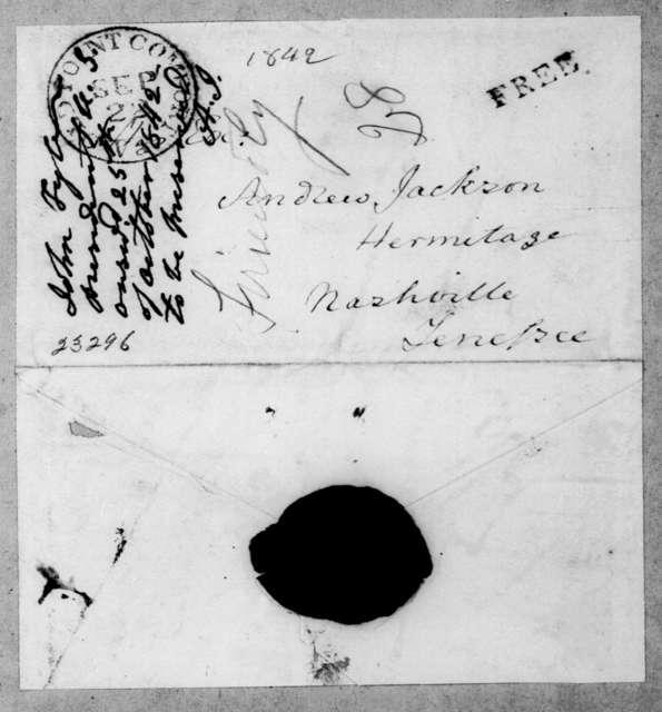 John Tyler to Andrew Jackson, September 20, 1842