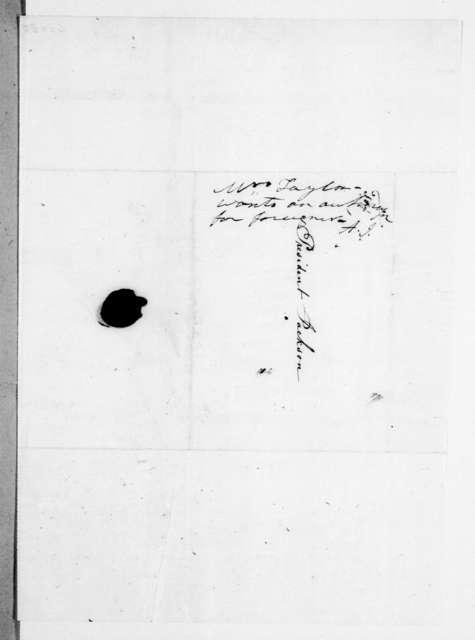 Julia Maria (Dickinson) Tayloe to Andrew Jackson, January 23, 1842