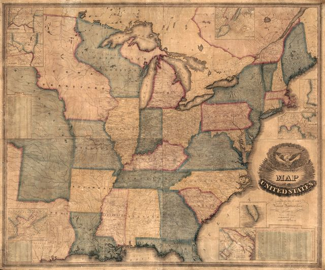 Map of the United States : compiled from the latest authorities.