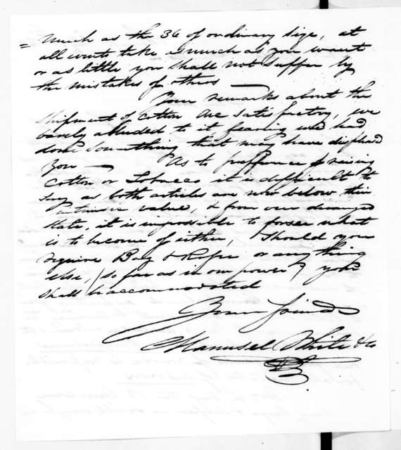 Maunsel White & Co. to Andrew Jackson, February 28, 1842