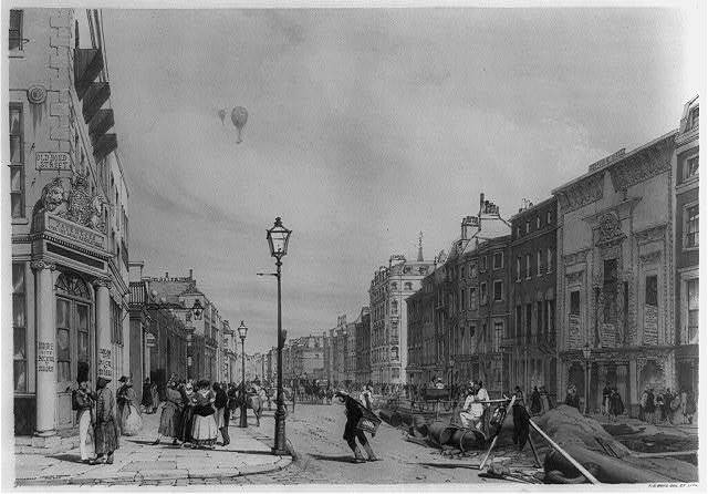 Piccadilly, looking towards the city / T.S. Boys, del. et lith.