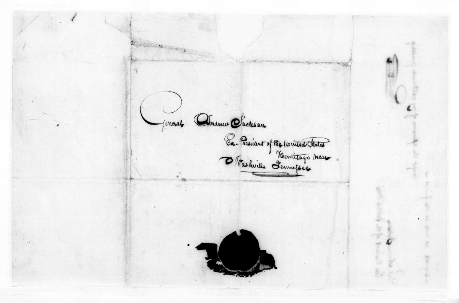 Robert Butler to Andrew Jackson, February 28, 1842