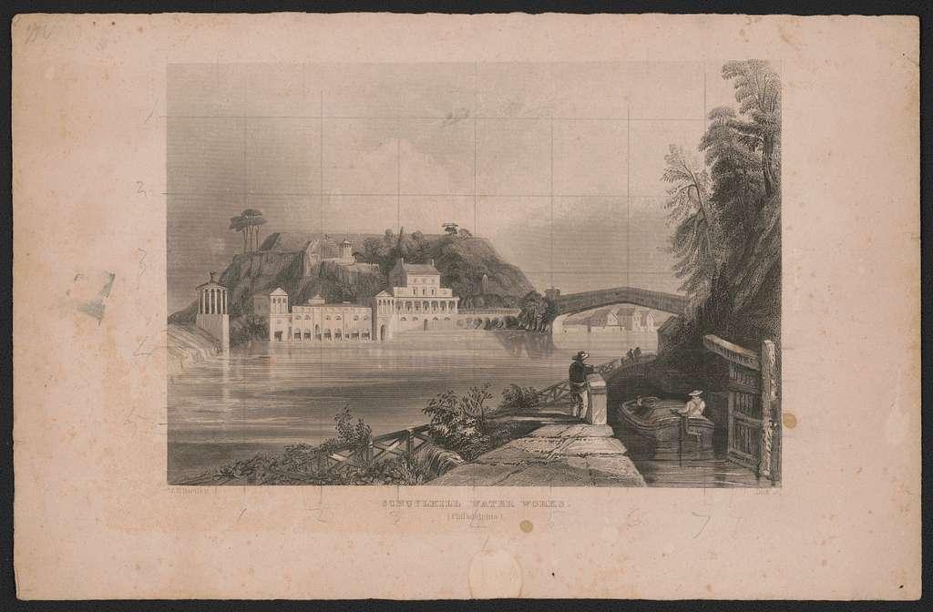 Schuylkill water works (Philadelphia) W.H. Bartlett ; Dick, sc