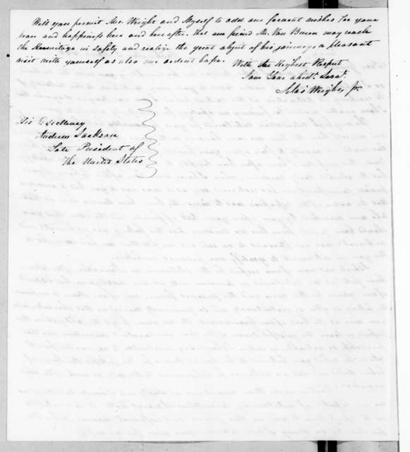 Silas Wrights, Jr. to Andrew Jackson, April 2, 1842