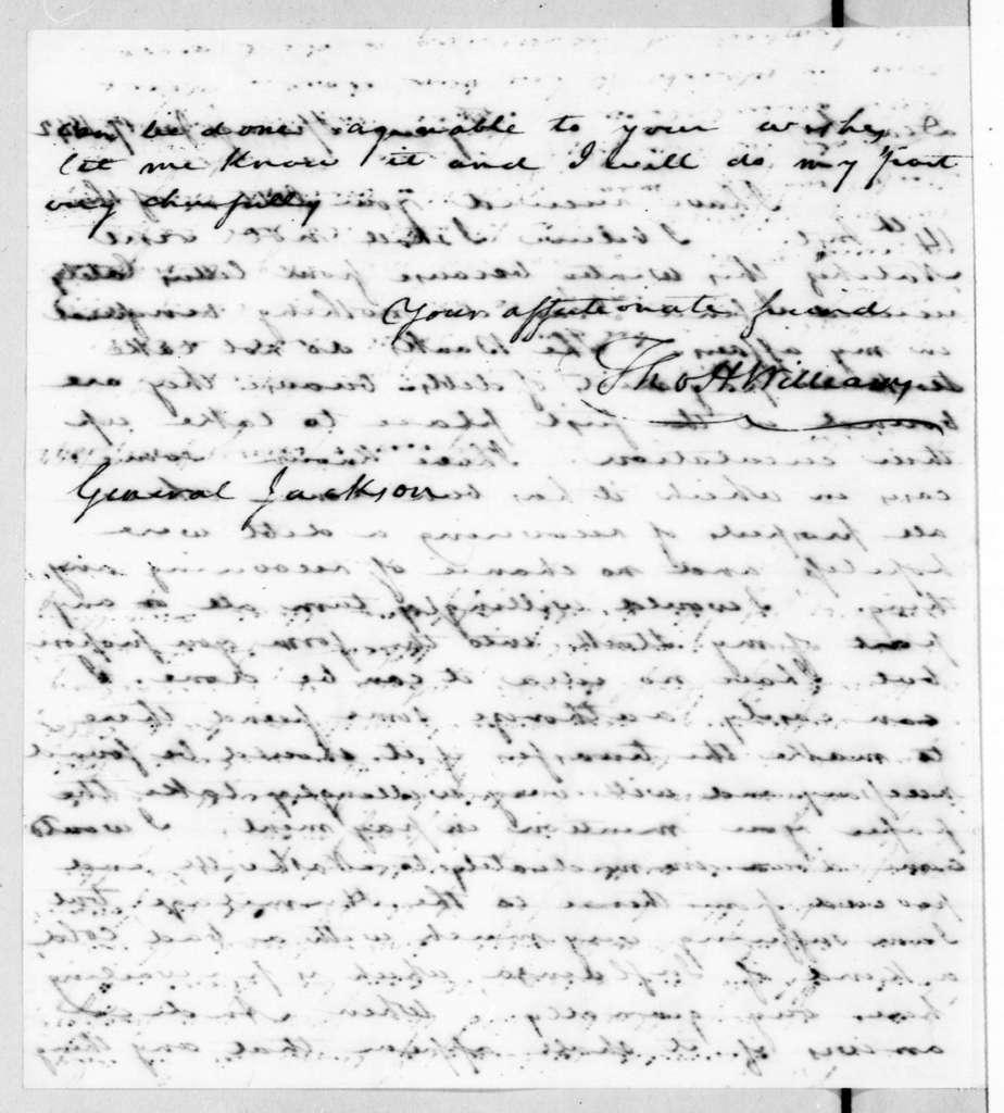Thomas Hickman Williams to Andrew Jackson, January 17, 1842