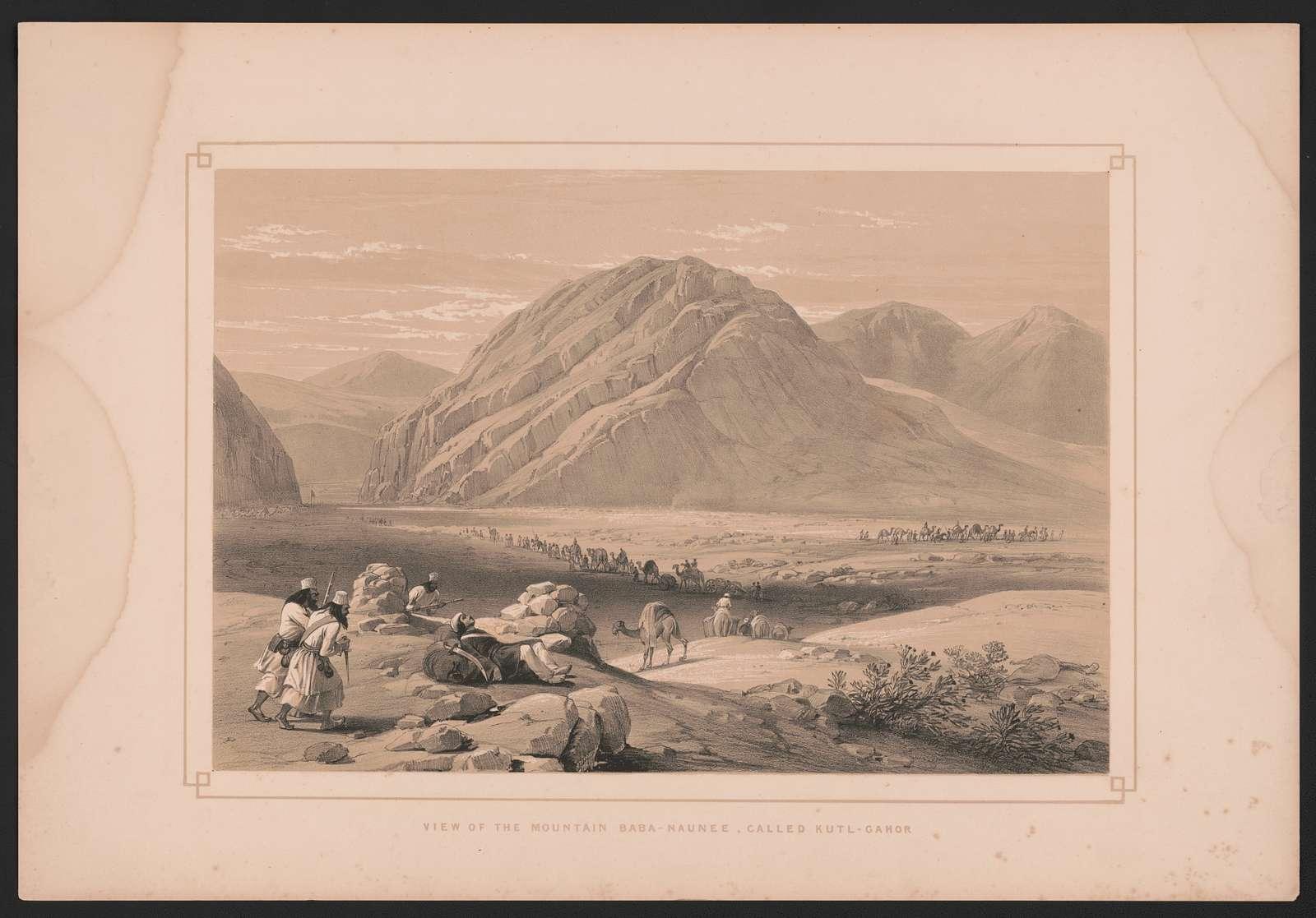 View of the mountain Baba-Naunee, called Kutl-Gahor