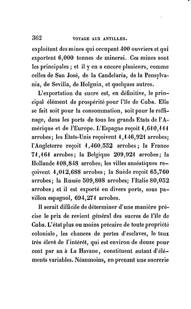 Voyage aux Antilles, françaises, anglaises, danoises, espagnoles; à Saint-Domingue et aux États-Unis d'Amérique ...