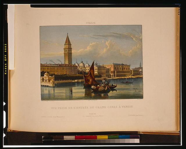 Vue prise de l'entrée du Grand Canal à Venise / daguérreotype, Lerebours ; Martens, sc.