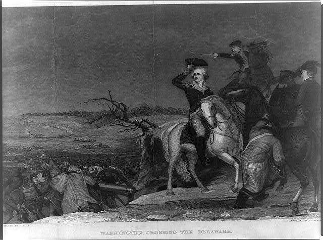 Washington crossing the Delaware / Painted by T. Sully; Engraved by J.N. Gimbrede.