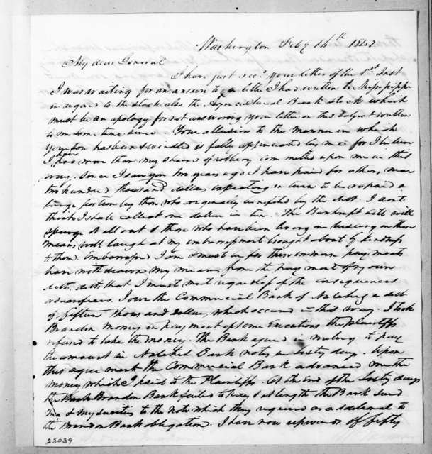 William McKendree Gwin to Andrew Jackson, February 16, 1842