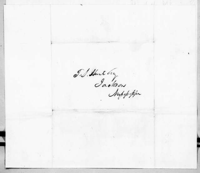 William McKendree Gwin to [Fielding? S.] Hunt, February 10, 1842