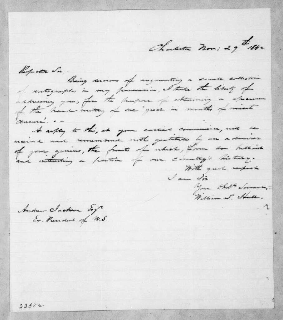 William S. Hull to Andrew Jackson, November 29, 1842