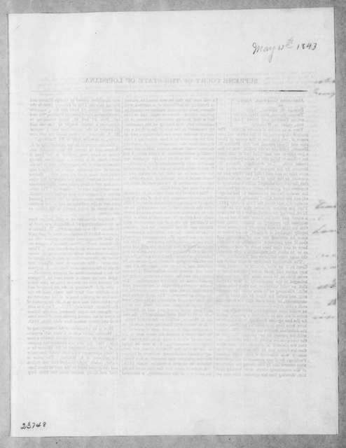 [Alfred Hennen] to Andrew Jackson, May 13, 1843