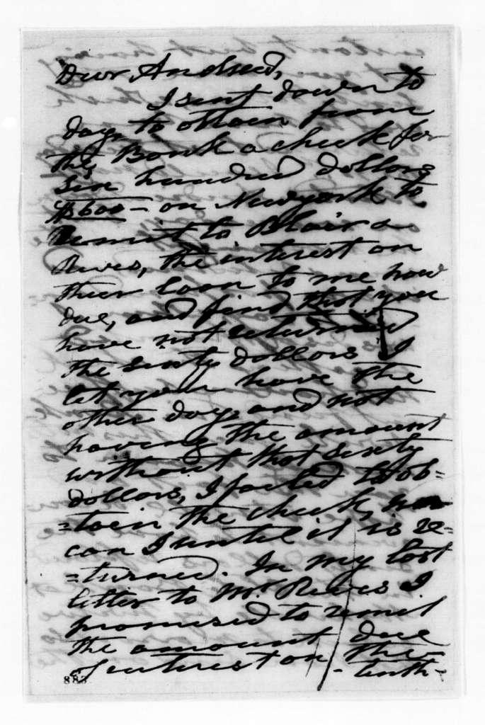 Andrew Jackson to Andrew Jackson Donelson