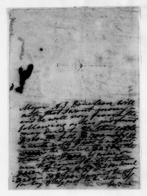 Andrew Jackson to Andrew Jackson Donelson, October 15, 1843
