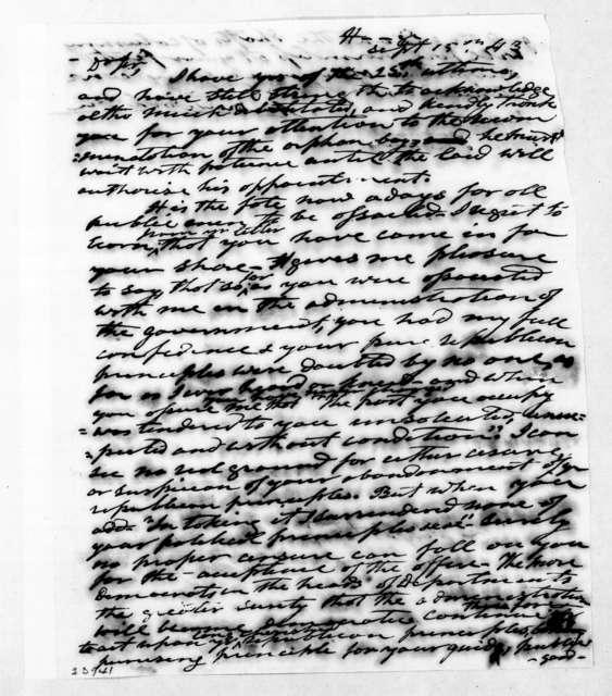 Andrew Jackson to David Henshaw, September 15, 1843