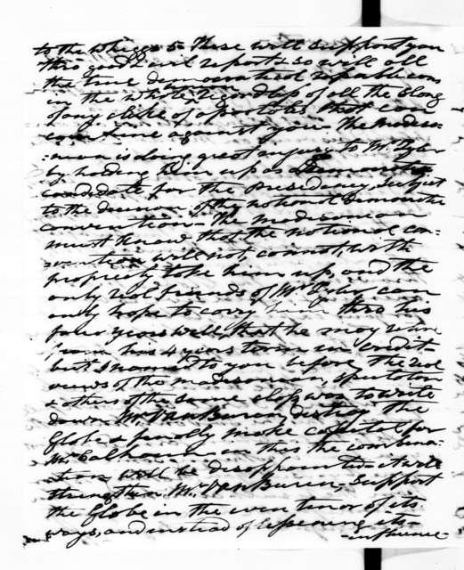 Andrew Jackson to Francis Preston Blair, August 11, 1843