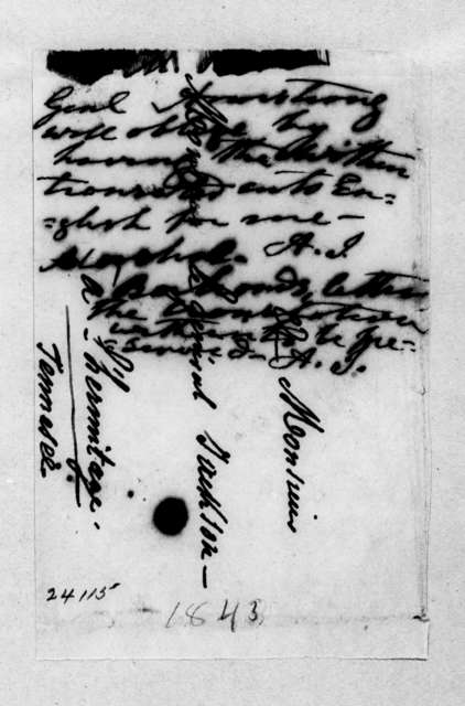 Andrew Jackson to Robert Armstrong