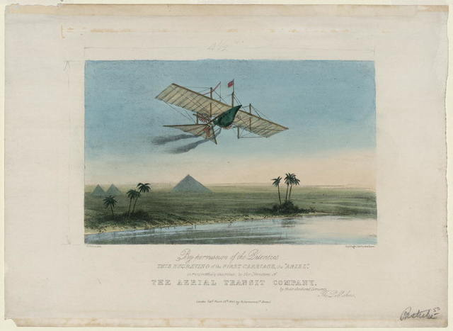 [Ariel, the first carriage of the Aerial Transit Company] / W. Walton lith. ; Day & Haghe lithrs. to the Queen.