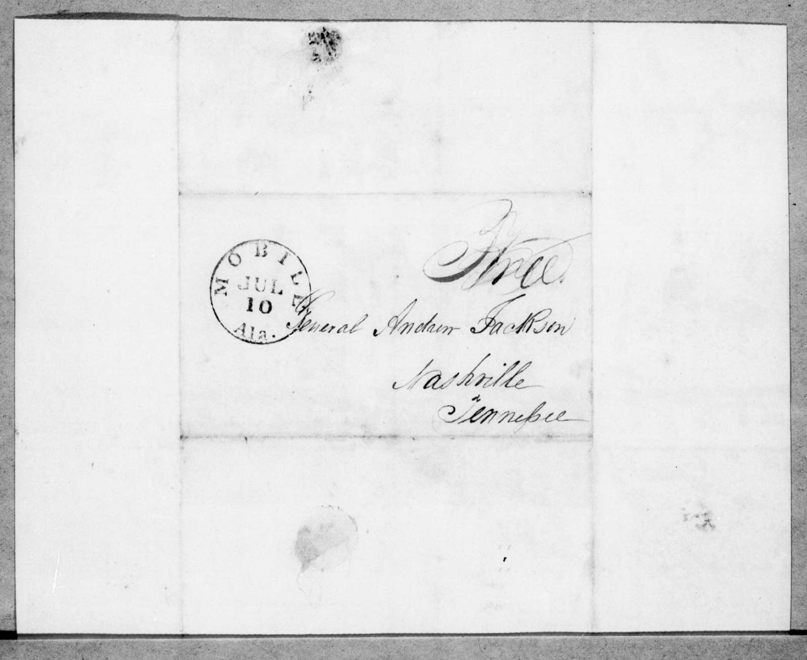 Caroline Ada Beard to Andrew Jackson, July 5, 1843