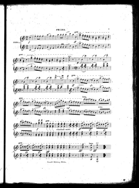 Cassel's military waltz, op. 31, no. 3