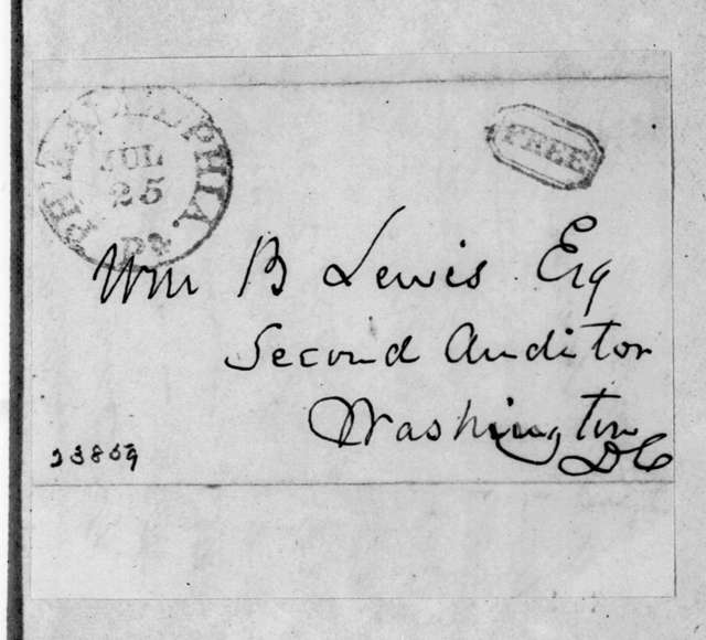 Charles Jared Ingersoll to William Berkeley Lewis, July 25, 1843