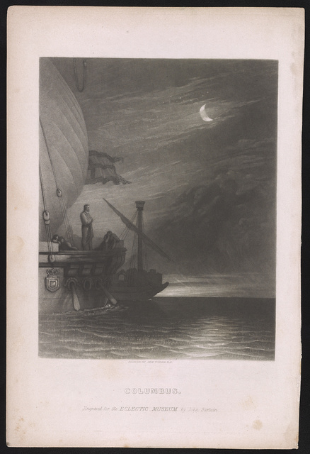 Columbus / painted by J.M.W. Turner R.A. ; engraved for the Eclectic Museum by John Sartain.