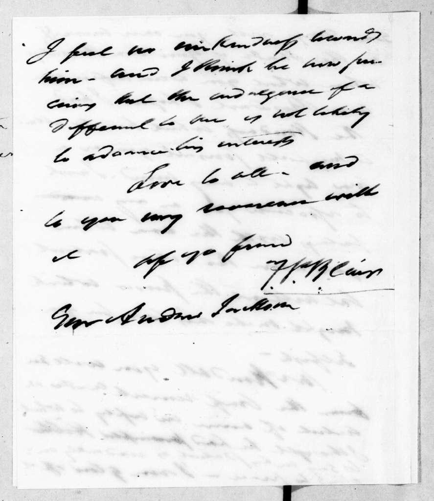 Francis Preston Blair to Andrew Jackson, March 22, 1843