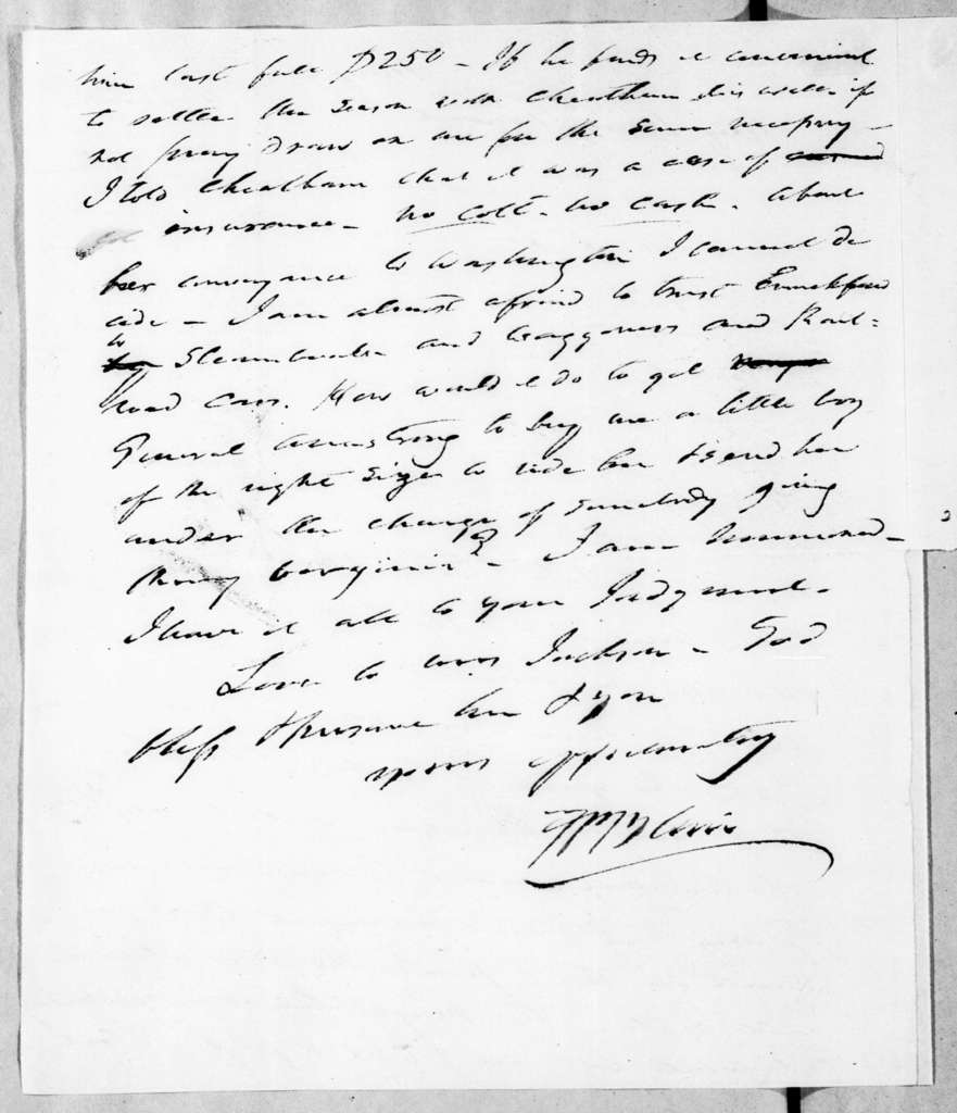Francis Preston Blair to Andrew Jackson, May 21, 1843