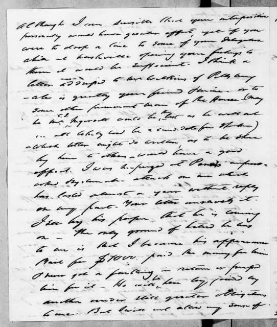 Francis Preston Blair to Andrew Jackson, November 11, 1843