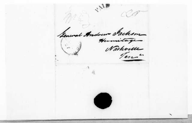George Coleman DeKay to Andrew Jackson, April 26, 1843