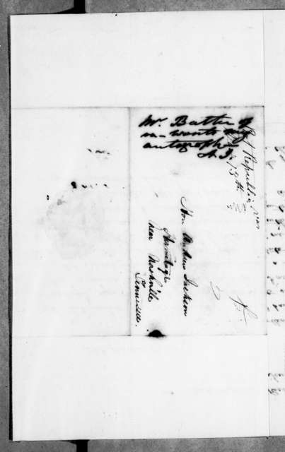 George G. Butler to Andrew Jackson, December 14, 1843