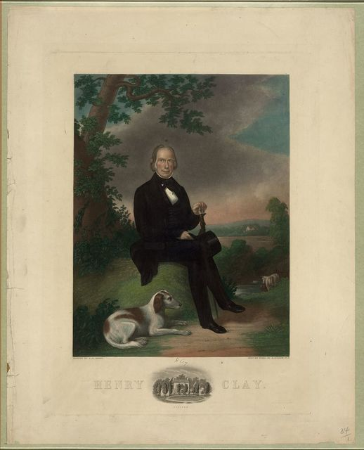 Henry Clay / painted by J.W. Dodge 1843 ; engd. on steel by H.S. Sadd, N.Y.