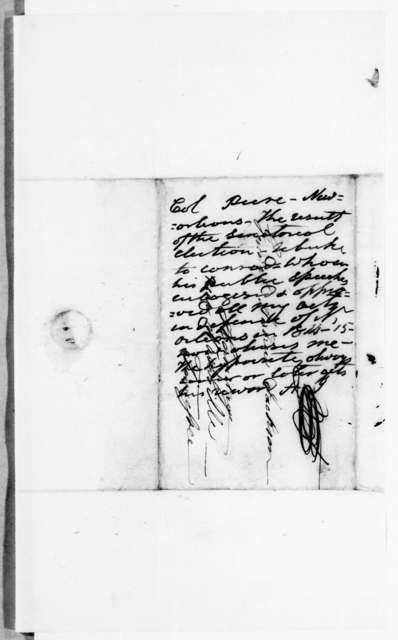 Henry D. Peire to Andrew Jackson, January 9, 1843