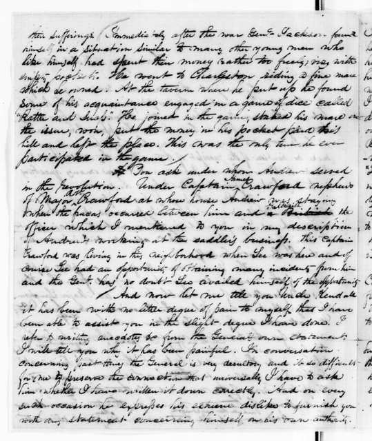 James A. McLaughlin to Amos Kendall, February 14, 1843
