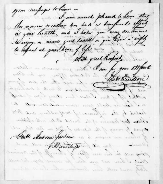 James Waller Breedlove to Andrew Jackson, May 25, 1843