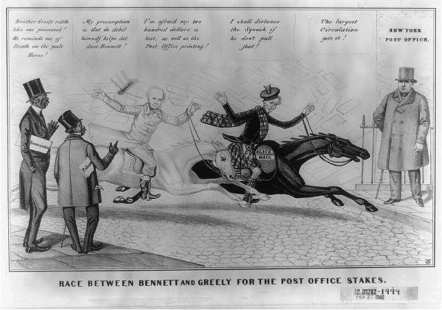 Race between Bennett and Greely for the Post Office stakes