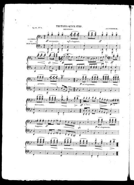 Teutonia quick step, op. 31, no. 2