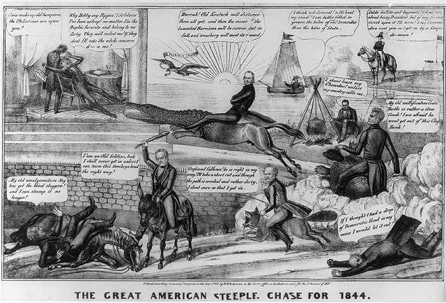 The great American steeple chase for 1844