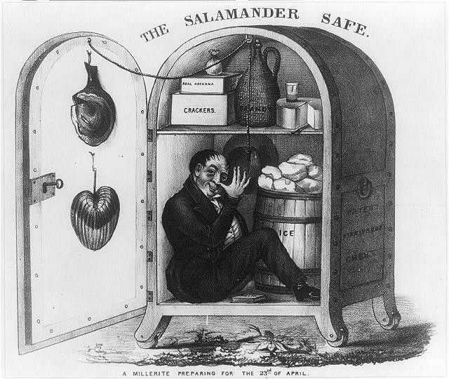 The salamander safe. A millerite preparing for the 23rd of April