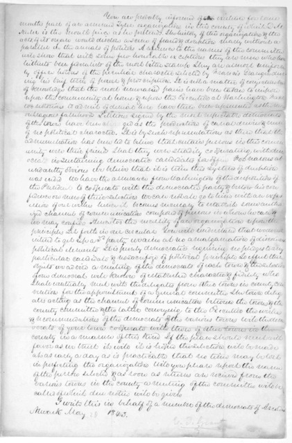 To the democracy of Wayne County. Mr. Tyler, during a long political life, has been steadily opposed to the principles and measures of federalism ... A meeting of the Democrats of the town [  ] of who accord with the spirit of the above notice,