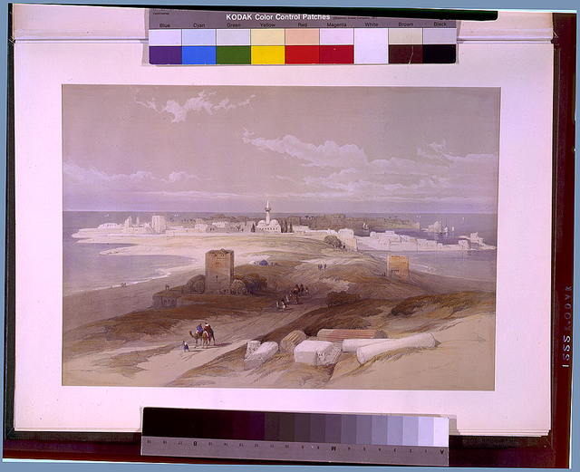 Tsur ancient Tyre from the Isthmus April 27th 1839 / David Roberts.