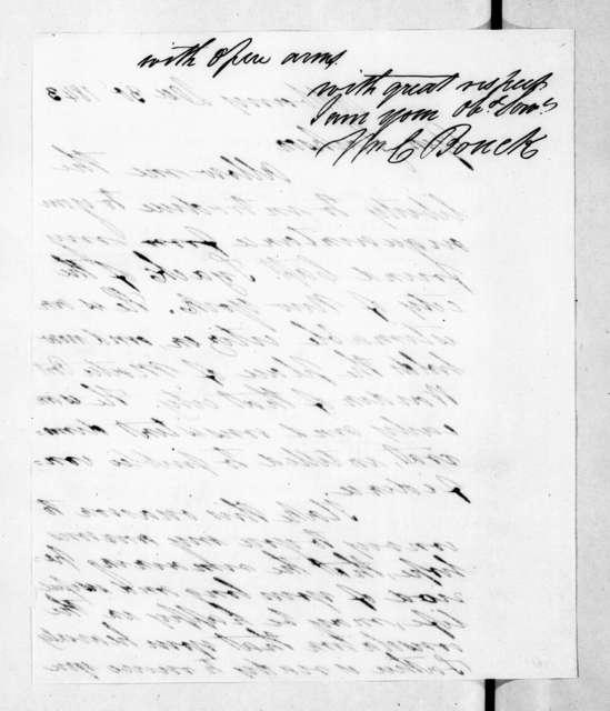 William C. Bouck to Andrew Jackson, December 30, 1843