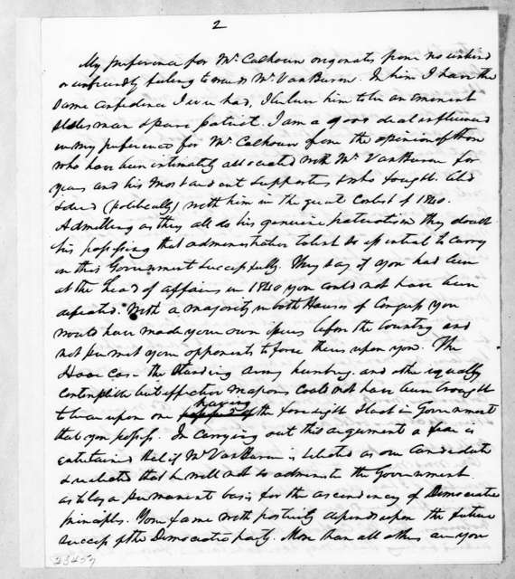 William McKendree Gwin to Andrew Jackson, January 3, 1843